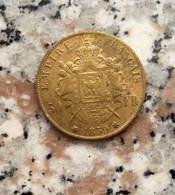 RIPRODUZIONE DI MONETA DA 50 FRANCHI FRANCESI D'ORO DEL 1859 DI NAPOLEONE III° - MONETA FALSA - - Fausses Monnaies