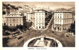 [DC9230] CPA - GENOVA - PIAZZA CORVETTO - ANIMATA - SUL RETRO PANORAMA GENOVA - Non Viaggiata - Old Postcard - Genova