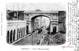 [DC9233] CPA - GENOVA - PONTE MONUMENTALE - ANIMATA - Viaggiata 1901 - Old Postcard - Genova