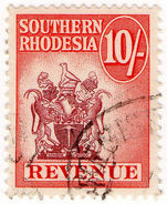 (I.B) Southern Rhodesia Revenue : Duty Stamp 10/- - Great Britain (former Colonies & Protectorates)