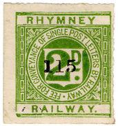 (I.B) Rhymney Railway : Letter Stamp 2d - 1840-1901 (Victoria)