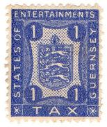(I.B) Guernsey Revenue : Entertainments Tax 1d - 1902-1951 (Kings)