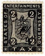 (I.B) Guernsey Revenue : Entertainments Tax 2d - 1902-1951 (Kings)
