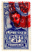(I.B) Australia - Queensland Revenue : Impressed Duty 4d - Australia
