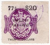 (I.B) QV Revenue : Consular Service $20 - 1840-1901 (Victoria)