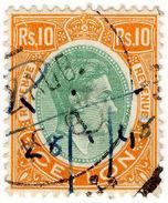 (I.B) Ceylon Revenue : Duty Stamp 10R - Ceylon (...-1947)