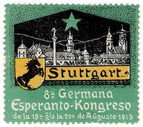 (I.B) Cinderella (Esperanto) Collection : Congress Label (Stuttgart 1913) - Poland