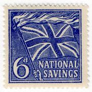 (I.B) Cinderella Collection : National Savings - Flaming Cross 6d - 1952-.... (Elizabeth II)