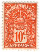 (I.B) George V Revenue : National Health & Insurance 10d - 1902-1951 (Kings)