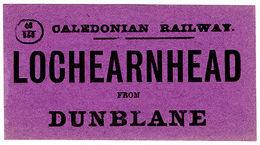 (I.B) Caledonian Railway : Parcel Label (Lochearnhead To Dunblane) - 1840-1901 (Victoria)