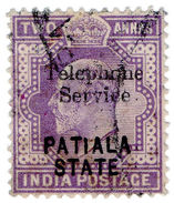 (I.B) India Telegraphs : Patiala State Telephone Service 2a - Unclassified