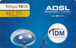 LEBANON - IDM Prepaid Card, $27,50, Used - Liban