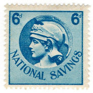 (I.B) Cinderella Collection : National Savings 6d (Britannia) - 1902-1951 (Kings)