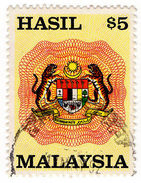 (I.B) Malaysia Revenue : General Duty $5 - Great Britain (former Colonies & Protectorates)