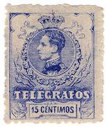 (I.B) Spain Telegraphs : King Alfonso 15c - Spain