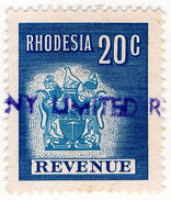 (I.B) Rhodesia Revenue : Duty Stamp 20c - Great Britain (former Colonies & Protectorates)