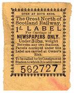 (I.B) Great North Of Scotland Railway : Newspaper Parcel 1d - 1840-1901 (Victoria)