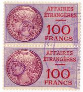 (I.B) France Revenue : Consular Service 100F (Affaires Etrangeres) - Europe (Other)