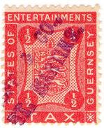 (I.B) Guernsey Revenue : Entertainments Tax ½d - 1902-1951 (Kings)
