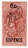 (I.B) Fiji Revenue : Duty Stamp 6d - Fiji (...-1970)