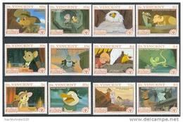 Myu066 WALT DISNEY DE REDDERTJES THE RESCUERS MUIS VOGEL MICE BIRD CRICKET KANGOEROE KOALA ST. VINCENT 1991 PF/MNH - Disney