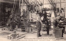 CPA RARE - 59 -GOEULZIN - Constructions Mécanique Et Machines Agricoles - Jules Duplouy, Constructeur-Mécanicien Breveté - Artigianato
