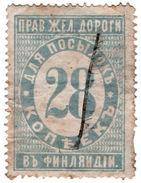 (I.B-CK) Finland Railways : Parcel Stamp 28k (Grand Duchy - Russia) - Finland