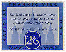 (I.B) Cinderella Collection : National Thanksgiving Fund 2/6d - 1902-1951 (Kings)