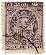 (I.B) Philippines Telegraphs : 25c Purple (1896) - Philippines