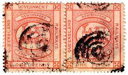 (I.B) Australia - Queensland Railways : Parcel Stamp 1d (1896) - Australia