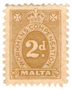 (I.B) Malta Revenue : Workmen's Compensation 2d - Malta (...-1964)