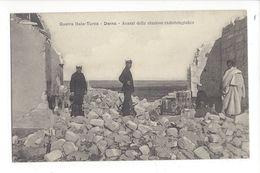 18289 -  Guerra Italo Turca Derna Avanzi Della Stazione Radiotelegrafica + Cachet Division Speciale Comando 25.05.1912 - Guerra 1914-18