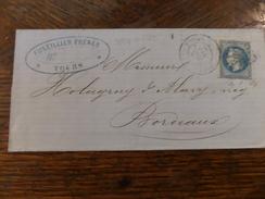 28-29.11.17-LAC De Tours,variété  1 Tache Sous Le Menton ,repere? - 1863-1870 Napoléon III. Laure