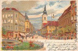 ¤¤  -   AUTRICHE  -  GRAZ   -  Auerspergplatz Mit Herrengasse  -  Illustrateur       -  ¤¤ - Graz