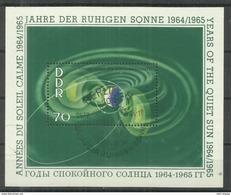 """DDR Bl. 22 """"Block Zu Jahre Der Ruhigen Sonne 1964/1965"""" Sonderstempel"""" Mi 4,00 - Blocs"""