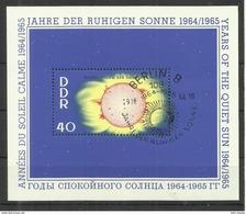 """DDR Bl. 21 """"Block Zu Jahre Der Ruhigen Sonne 1964/1965"""" Sonderstempel"""" Mi 4,50 - Blocs"""
