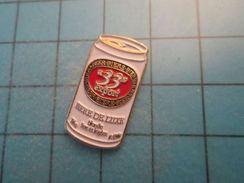 Pin513g Pin's Pins : Rare Et Belle Qualité : BOISSON BIERE DE LUXE 33 EXPORT CANETTE , Marquage Au Dos : ---- - Beer