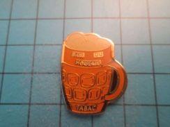 Pin513g Pin's Pins : Rare Et Belle Qualité : BOISSON BIERE PRESSION CHOPE BAR DU HOULME  , Marquage Au Dos : ---- - Bière