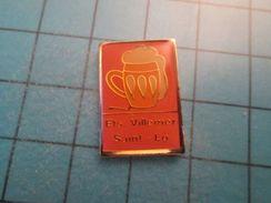 Pin513g Pin's Pins : Rare Et Belle Qualité : BOISSON BIERE ETS VUILLEMER SAINT LÔ  , Marquage Au Dos : ---- - Bière