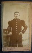 PHOTO CDV - Militaire 96em Régiment,Photographe A.Mouchiroud 2 Rue Grenette Lyon. - War, Military