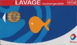 # Carte A Puce Portemonnaie Lavage Total - Poisson - 500 Stations - Carte De Lavage Rechargeable - Bon Etat - - Frankrijk
