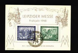 A5001) Kontrollrat Sonderkarte Mi.967-968 Frühjahrsmesse 1948 - Gemeinschaftsausgaben