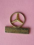 PIN'S  LOGO  ETOILE  DORE  MERCEDES-BENZ     -  Automobile - Mercedes  (24) - Mercedes
