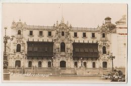 Carte Photo Palacio Arzobispal   Lima  1936 - Perù