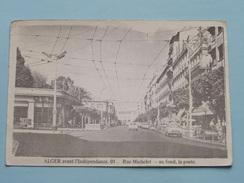 Alger Avant L'Indépendance Rue MICHELET( Reproduction D'après Cliché Des Ed. JOMONE - ABC ) Anno 19?? ( Voir Photo ) ! - Alger