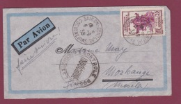 INDOCHINE - 281117 -  Lettre  De SAIGON COCHINCHINE Pour La France  1939 CONTROLE POSTAL INDOCHINE - Storia Postale