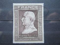VEND BEAU TIMBRE DE FRANCE N° 606a , BRUN ROSE , XX !!! - France