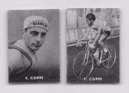 """33 """"FAUSTO COPPI  1919 - 1960 CICLISTA """" COPPIA DI FIGURINE ORIGINALI """"NANNINA"""" 1952 - Ciclismo"""