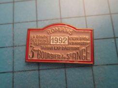 Pin513g Pin's Pins : Rare Et Belle Qualité : 3e BOURBIER DE ST ANGE ROMANS 1992 LA RONDE DES PAINS  RALLYE AGRICOLE - Rallye