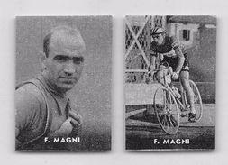 """37 """"FIORENZO MAGNI 1920 - 2012 CICLISTA """" COPPIA DI FIGURINE ORIGINALI """"NANNINA"""" 1952 - Ciclismo"""